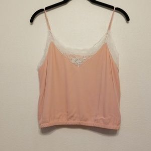 Wilfred Free Agyness Tank in peach & white lace